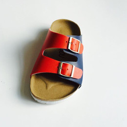 Wholesale Baby Matching Sandals - Wholesale-2015New simple stylish Cork sandals comfortable casual sandals boys girls baby princesses boy colour matching childen's shoes