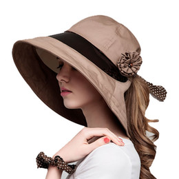 Wholesale Riders Cars - Wholesale-Forefront Transparent of the Electric Car Visor Big Brim Summer Hat Female Rider cicyle Anti-UV Sun Hat