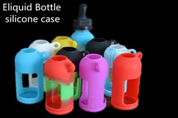 Wholesale Eliquid Case - Newest Colorful Eliquid Bottles silicone Cover Soft Pouch Silicone Protective Case 15ml 30ml optional oil Rubber Sleeve Cover