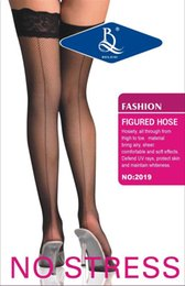 Wholesale Cheap Lingerie Wholesale Free Shipping - Wholesale-Kaka Knitting B-05 New 2015 Hot Sale!! Cheap Sexy Womens Sheer Lace Top Thigh High Sexy Lingerie Stockings Free shipping