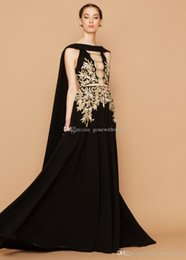 Wholesale Formal Shawls Wraps - black shawl A-line formal evening dresses 2018 georges hobeika dresses for evening heavily embroideried evening gowns
