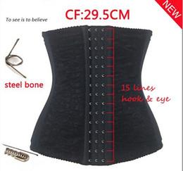 Wholesale Waist Cinchers Sale - S-6XL hot sale waist training corsets shaper black underbust corset steel waist cincher shaper belt body shapers