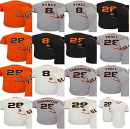 Wholesale Hunter Mens - 2017 San Francisco 29 Jeff Samardzija 28 Buster Posey 8 Hunter Pence Cool Flex Baseball Jerseys Mens Womens Youth Cream Orange Black