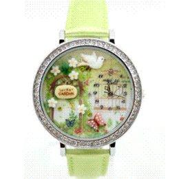 Wholesale Handmade Clay Watches - car 2014 Hottest women watches Polymer Clay Handmade Genuine Leather Quartz Korea Mini Watch leather watch