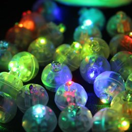 Wholesale Round Paper Lantern Lamps - 100Pcs lot Color Round Mini Led RGB Flash Ball Lamp Put in paper Lantern Balloon Lights For Christmas Wedding Party Decoration