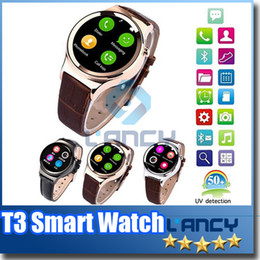 Wholesale Android Mp4 Support - 2016 Smart Watch T3 Smartwatch Support SIM SD Card Bluetooth WAP GPRS SMS MP3 MP4 USB For iPhone And Android