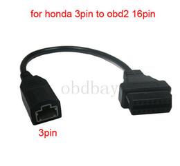 Wholesale Honda Connector Pins - For Honda 3pin obd2 Adapter OBD II OBDII for Honda 3 pin to 16 pin Connector