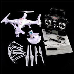 Wholesale Toy Rotor - 100% Original Syma X5C X5C-1 Quadcopter 2.4G 6 Axis UFO 2M Pixel Mini Drone With Camera and 360 Degrees Helicopters Toy