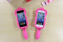 Wholesale Girls Doll Magic - Magic Cosmetic Mirror and 3D Barbie Girl Beautiful Doll Pink Soft Silicone GEL Case for iPhone 4 4S 5 5S 6 Plus 4.7   5.5 inch