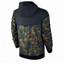 abbigliamento antivento Sconti Plus Size Uomo Giacche Cappotto Autunno Felpa con cappuccio Camouflage Antivento manica lunga Designer Hoodies Zipper Abbigliamento uomo con cappuccio