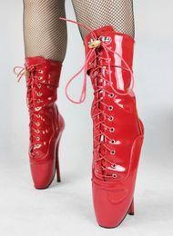 "Wholesale Leather Restraints - New BDSM Feet Bind Restraints PadLock 7"" Ballet Pointe Extreme Fetish Sex Red pu High Heel Ankle Boots extreme high heel 18cm ballet boots"