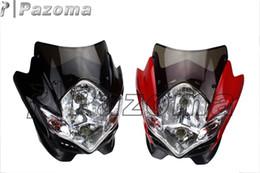 Wholesale Off Road Motorcycle Headlights - PAZOMA STREETFIGHTER STREET FIGHTER HEAD LIGHTS OFF ROAD CLASS BIKE UNIVERSAL VISION HEADLIGHT ZEPHRYx ZRX ZRX-11 MOTORCYCLE HEAD LAMP