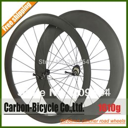 Wholesale Carbon Bike 88mm Wheelset - Wholesale-Only 1610g ultra light 60+88mm clincher bike wheelset 700c carbon fiber road racing bicycle wheels