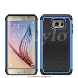 Wholesale Wholesalers Football Phone Cases - For Galaxy Note 5 Robot 3 in 1 Football Rugged Hybrid Silicone PC Hard Phone Case Cover Shockproof for Samsung Note 5 N9200