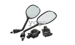 Wholesale Mirror Bikes - Weksi Motorcycle Street Bike ATV Rear View Rearview Side Mirrors 8mm + 2 Handlebar Mount (Pack of 2)