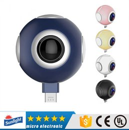 Wholesale Lens Panoramic - Air Mini Panoramic live Camera 360 Degree Cam 3K HD Wide Dual Angle Fish Eye Lens VR Video Camera for Andriod Smartphone
