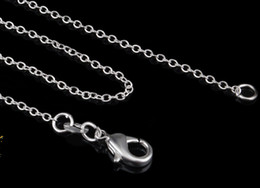 Wholesale Thin Chain Link Necklace - 2017 hot sales 1MM 16-24 inches choose 925 Silver Chain Necklace High Quality Thin silver chain