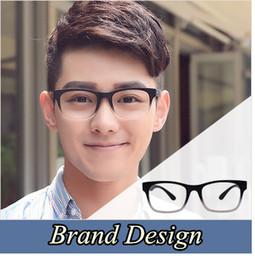 Wholesale Plain Eye Glasses For Men - Wholesale- 2016 Brand Design Eyewear Frames eye glasses For Men frames Male eyeglasses Computer optical Spectacle frame Myopia Plain Glass
