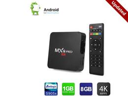 Wholesale full dvd player - MXQ Pro android 6.0 TV Box 1GB DDR 8GB EMMC Flash Amlogic S905x Streaming Media Player Full HD True 4K Playing Google Play