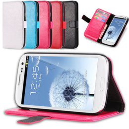 Wholesale Case Flip Galaxy Grand Duos - Vintage Leather Flip Case For Samsung GALAXY Grand Duos Neo I9060 I9082 Wallet Stand With Card Holder & Strap Phone Bag Cover