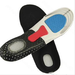 Wholesale Memory Foam Pad Shoe Inserts - 15%off new arrival 2015 10pairs Unisex Orthotic Arch Support Shoe Pad Sport Running Gel Insoles Insert Cushion Men Women drop shipping