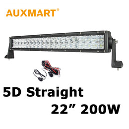 "Wholesale 4x4 Vehicles - Auxmart Chips 200W 22"" LED Light Bar 5D 12V 24V Car Boat Offroad Driving Vehicle 4x4 Truck Combo Flood Spot Beam LED Bars"