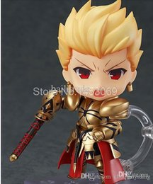 Wholesale Nendoroid Pvc Figure - Wholesale-Free Shipping #410 Nendoroid Fate Stay Night Gilgamesh Q Version Anime Catoon Action Figure Collection Model Changable Toy