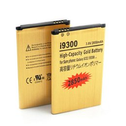 Wholesale Cheap Galaxies - Best Selling Replacement Gold battery For Samsung Galaxy S3 SIII I9300 High Capacity Gold 2850mAh 15 country and Epacket to US Cheap price