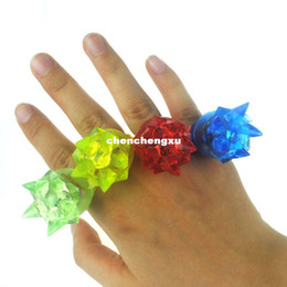 Wholesale Kids Plastic Rings Cheap - Creative Flicker finger ring colorful cheap light up toy fashion led rings kids birthday party supplies luminous ring 1200pcs lot