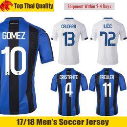 Wholesale Bc Black - 17 18 Italy Atalanta Soccer Jerseys 2017 2018 GOMEZ Jersey ILICIC Football Shirt CRISTANTE Maglia FREULER Atalanta BC Camiseta