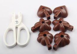 Wholesale Love Box Cake - 7Pcs Set Scissors Chocolate cake clamping mold Multifunctional SGS ABS 3D Cake mold love star plum shape with color box