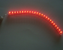 Wholesale 12v 24cm - New Red 24CM 24 LED Strip Motorcycle Bike waterproof Motorbike Bicycle Bulb 12V Decor decoration high quanlity