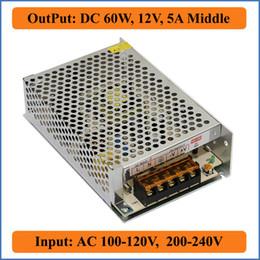 Wholesale Dc 12v Cameras - 60W 12V 5A Middle Switching Power Supply AC 100-120V 200-240V input,DC 12V Output for LED Strip Lighting Bulb or CCTV camera