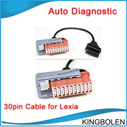 Wholesale Psa Peugeot - The best quality 2017 Newly Lexia3 30pin cable for Diagnosis citroen peugeot PSA 30 pin dianostic interface tool Free Shipping