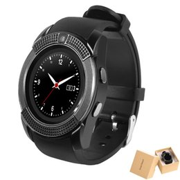Wholesale Mobile Phones Smartphones - V8 Smart Watch MTK6261D Support TF SIM Card Wireless Bluetooth Smartwatch For Smartphones iPhone Android Samsung Mobile Phones