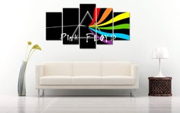 Wholesale Large Nude Canvas Art - Pink Floyd LARGE 60x32 inches 5Panels Art Canvas Print Pink Floyd Poster Wall Home Decor interior (No Frame)