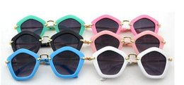 Wholesale Frames Wholesale China - Hot Girls Boys Fashion Sunglasses Sunglasses For Kids China Lovely UV400 Protection PC Plastic Fashion Classic Mirror child sunglasses A7298
