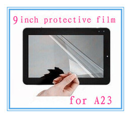"""Wholesale Tablet Protective Screen Film - 9 inch Ultra Clear Screen Protector Protective Films For 9"""" Android Tablet PC Full-Screen Size 232mm x141mm for A23 A13 MQ100"""