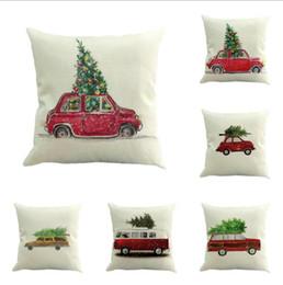 Capa de cintura on-line-Papai Noel Almofadas Capa de Natal Fronha de Algodão Cintura Linho Fronha Throw Pillowcase for Sofa Home Decoration
