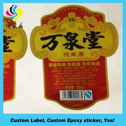 Wholesale Label Bottles - High quality champagne wine bottle labels