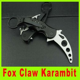 Wholesale Best Folding Karambit - Camping knife Fox Claw Karambit Training Folding blade knife Hunting Fighting Knives cutting knife best christmas gift 656L