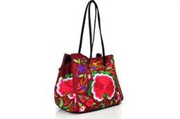 Wholesale China Floral Purses - Women Purses Handbags Designer Handbags Handbags Message bag with handmade embroidery china national Leisure Bag 3 colors Free shipping