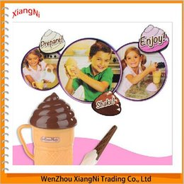Wholesale Plastic Popsicle Molds - 2015 Sales Green Environmental New Kitche Latest Children's Tool Made Ice Cream Cup Magic Storage Popsicle Molds Manufacturers order<$18no t