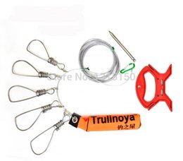 Wholesale Live Bait Fishing - Fishing Tackle Boutique With Float Stainless Steel Wire Rope Fish Live Fish Buckle Lock Fishing Gear Wholesale Free Shipping