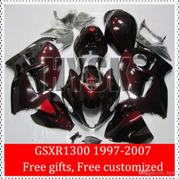Wholesale Hayabusa Painted Fairing Kits - Original Painting Bodywork Of Suzuki GSX-R1300 Whole Red 97 98 99 00 GSXR 1300 01 02 03 04 05 06 07 GSXR1300 Hayabusa Fairing Kits ABS