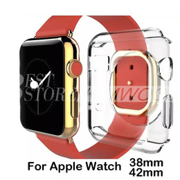 Wholesale Transparent Watch Silicone - 2015 Ultra Thin Apple Watch Case Colorful Crystal Clear 0.3mm TPU Silicone Soft Cover For Apple Watch 38mm 42mm Free Shipping