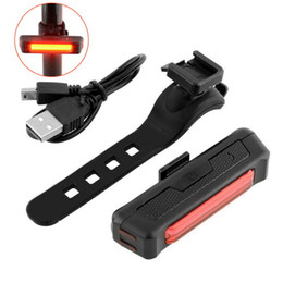 Wholesale Comet Tail Light - Super Bright COB Comet USB Rechargeable Bike Tail Light Taillight Lamp Safety Warning LED Mtb Bike Bicycle Rear Light Bycicle