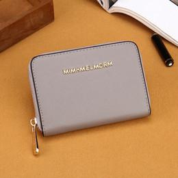 Wholesale Vintage Change Holder - Best quality PU material short wallets lady change wallet designer pocket bag multiple color optional zipper purse luxury brand purses