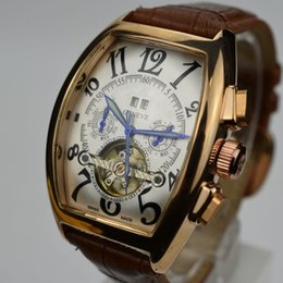 Wholesale Classic Tourbillon - Top selling classic luxury famous AAA brand men automatic mechanical leather watch fashion military tourbillon skeleton men dress watches