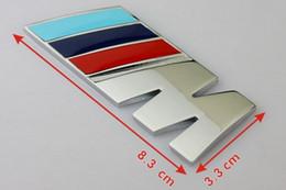 Wholesale Car Dark Red - 20pcs ABS M CAR BADGE Emblem TECH BADGE M POWER SPORT HOOD BOOT REAR 3D STICKER BLUE DARK BLUE RED Free Shipping
